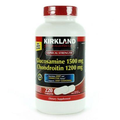 Glucosamine chondroitin kirkland 220 viên